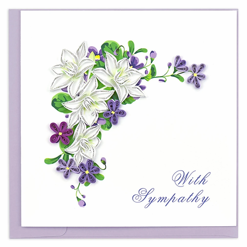 Quilling Card - With Sympathy