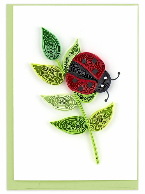 Quilling Enclosure Card - Ladybug