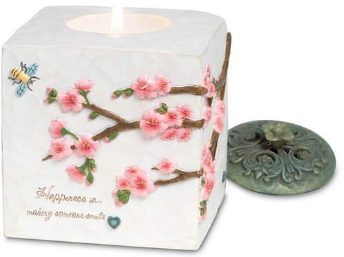 "Happiness - 3.5""x3.5"" Square candle holder"