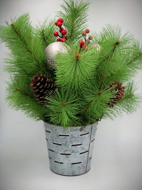 Artificial Green Pine Backet