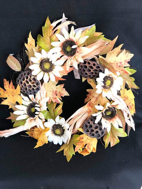 Fall Silk Flower Wreath