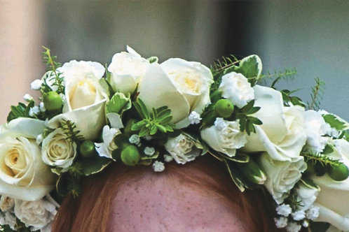 Girl's Flower Crown - Spray Roses and Greens