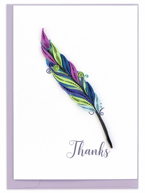 Quilling Enclosure Card - Thanks