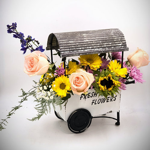 Fresh Flowers Wagon