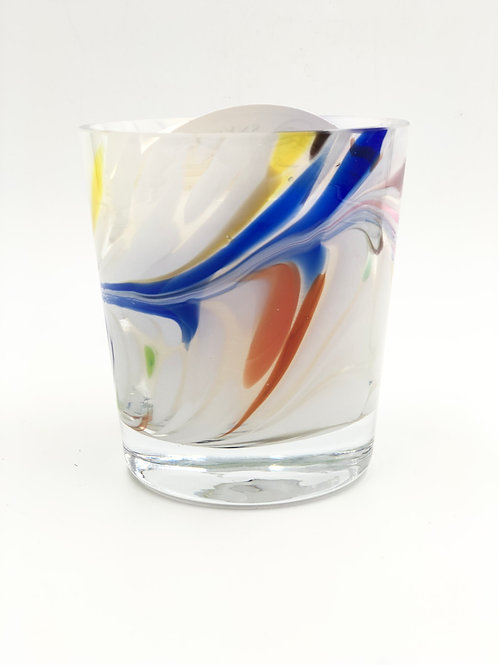Perfect Candle in European hand Blown Glass
