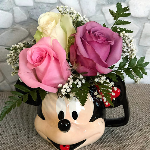 Mini Mouse Cup Full of Flowers