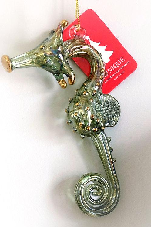 Seahorse Glass Ornament