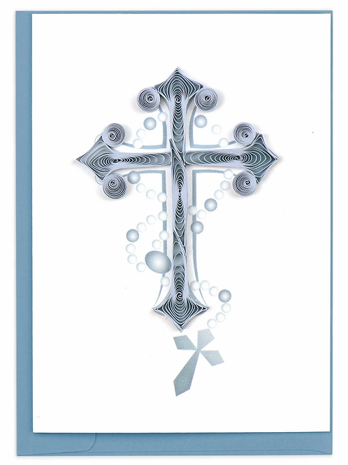 Quilling Enclosure Card - Blue Cross