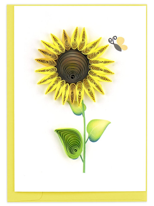 Quilled Sunflower Gift Enclosure