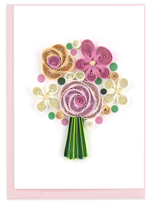 Quilled Flower Bouquet Gift Enclosure