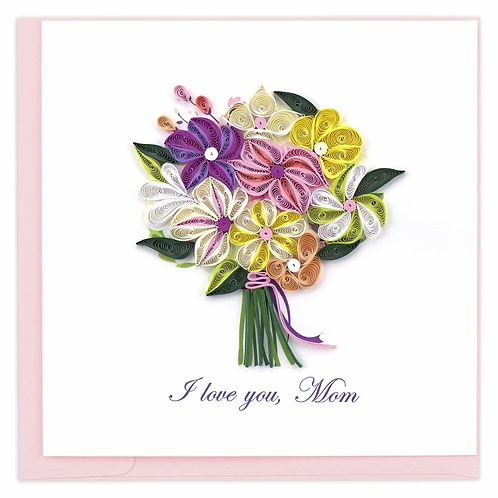 Quilling Card - I love you, Mom