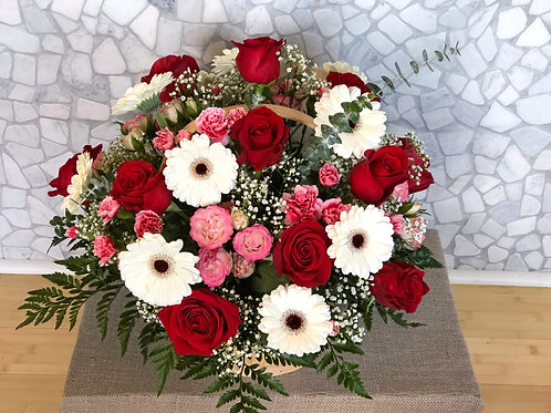 """A Flower Is A Smile From Heaven"" Basket Arrangement"