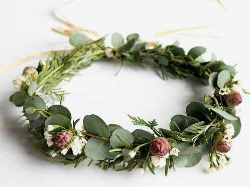 Women's Flower Crown - Fresh Flower & Greenery