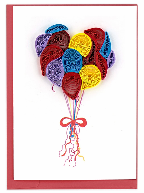 Quilling Enclosure Card - Balloons