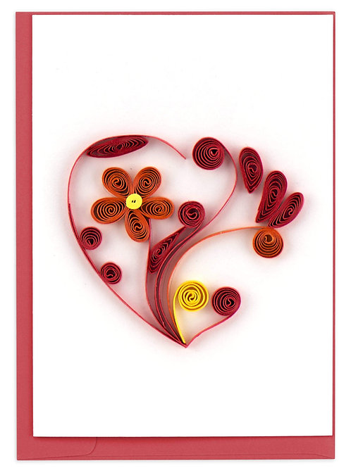 Quilled Heart Gift Enclosure