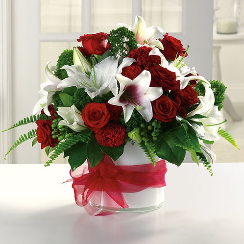Bold Red and White Bouquet