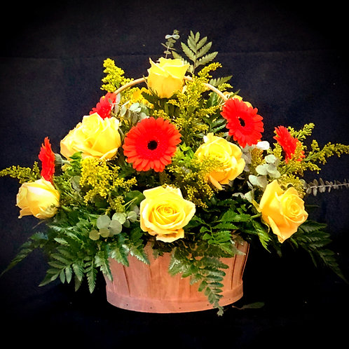 Bright Flower Basket