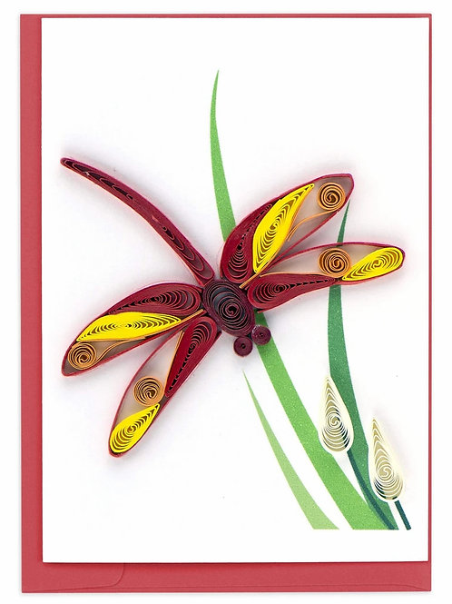 Quilling Enclosure Card - Dragonfly