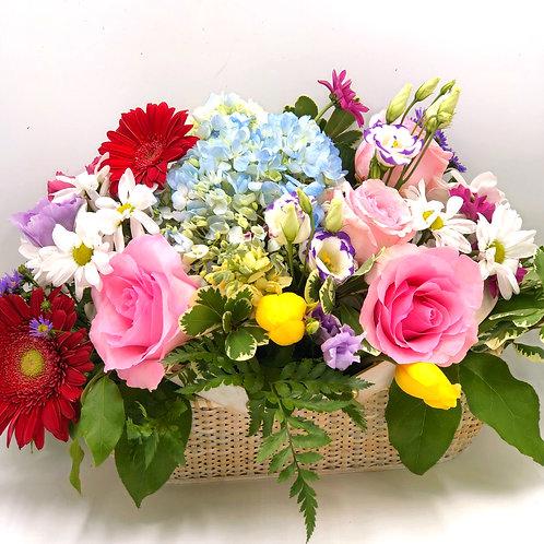 Nantucket Basket of Flowers