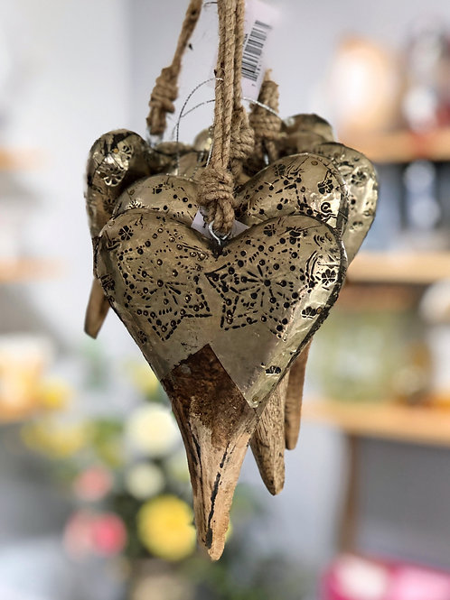 Heart  Ornaments - Small (shown) or Large