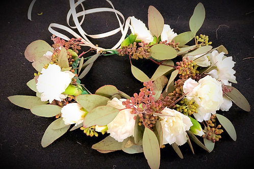 Girl's Flower Crown - Fresh Flower & Greenery