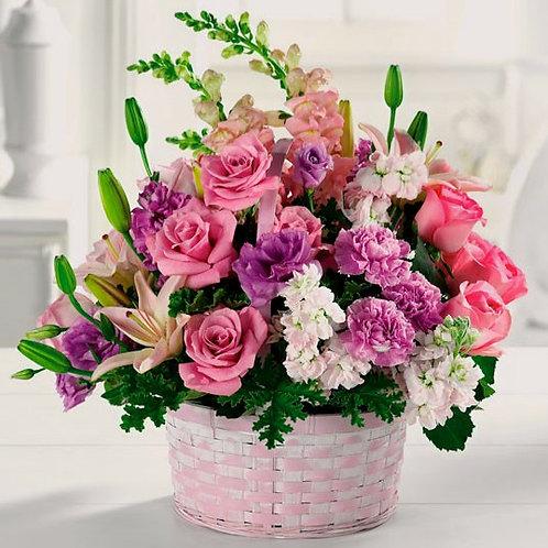 Spring Mix Floral Basket