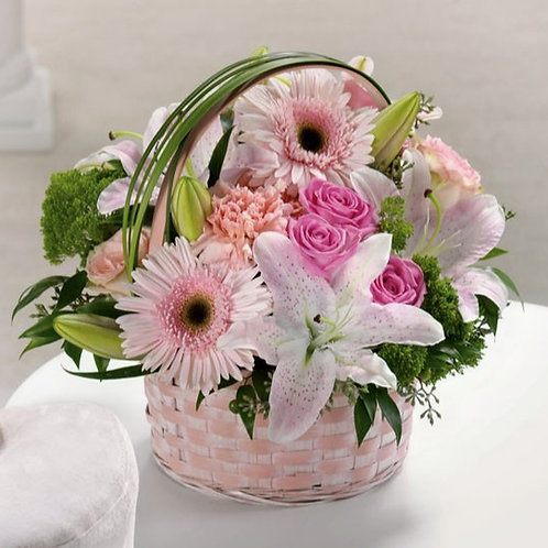 Easter Basket with Lilies