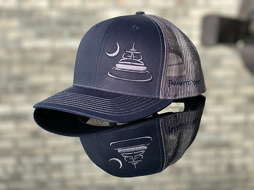 PYM Trucker Hat Navy/Grey