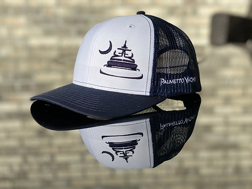 PYM Trucker Hat White/Navy