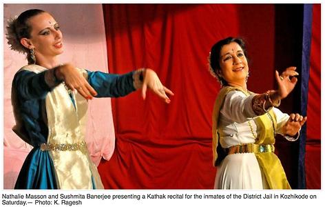 Nathalie Masson, Kathak dancer, Kathak Geneva, Kathak Switzerland, Kathak Genève, Sushmita Banerjee