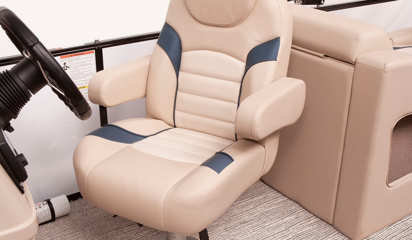 Select 322 SS High Back Captain's Chair.