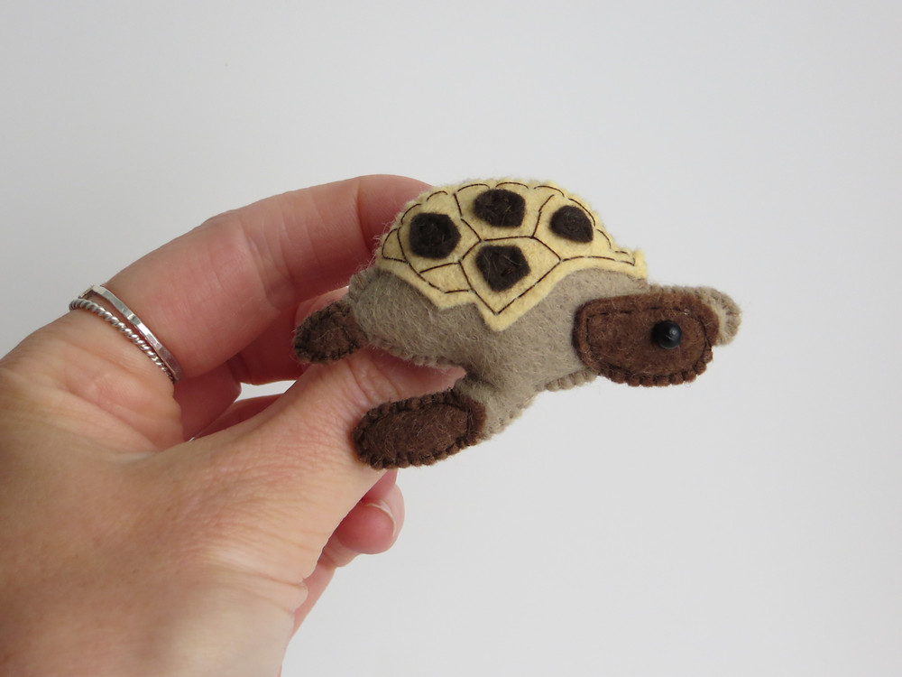 Bert the Tortoise, felt version!