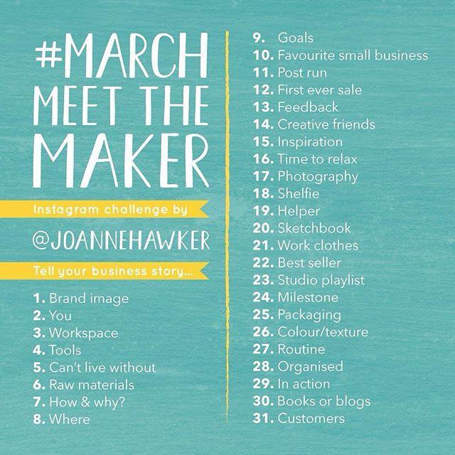 #MarchMeetTheMaker @joannehawker