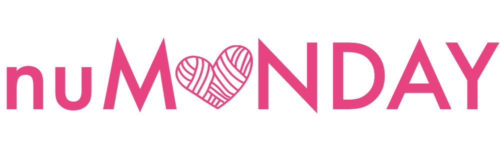 The written nuMONDAY Logo in pink text on white background