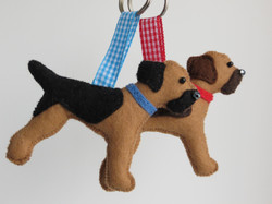 Border Terrier Keyrings