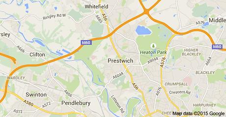 Google Maps Prestwich Manchester