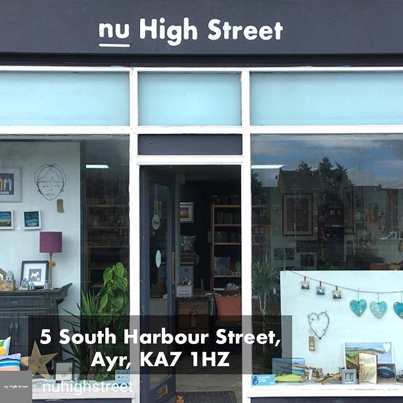 A shop front image of British handmade craft products for sale