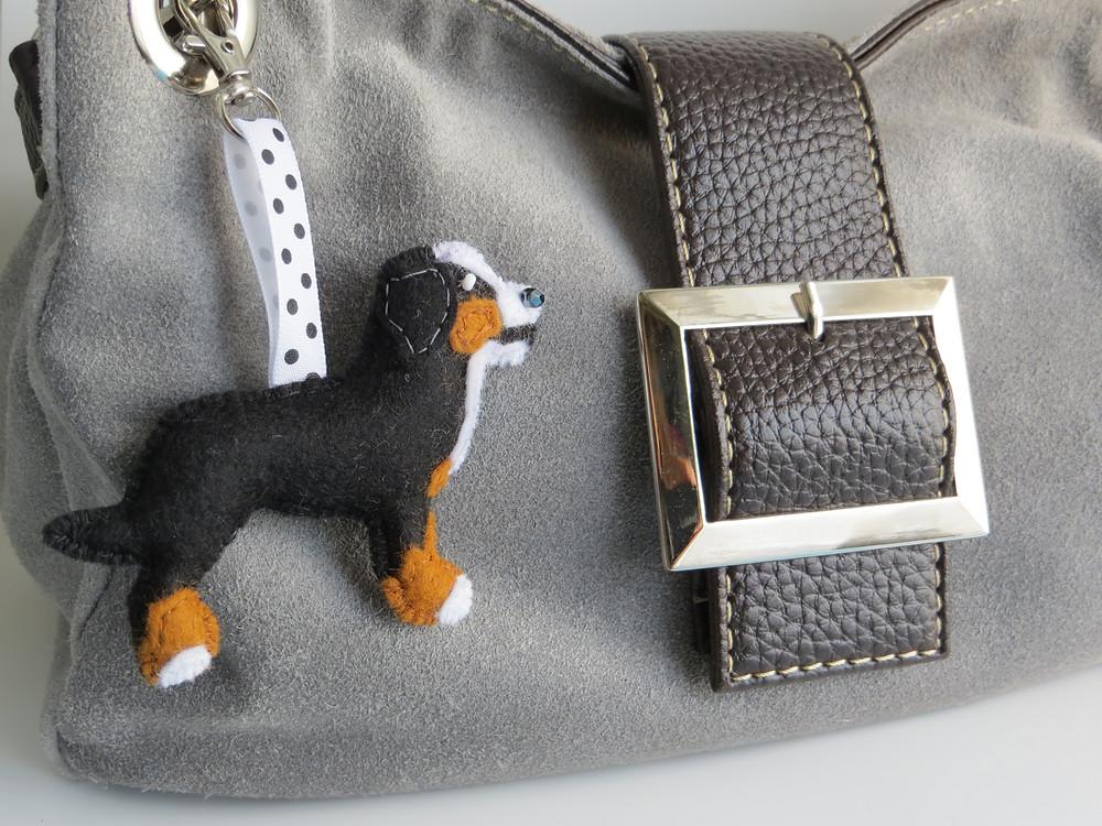 Bernese Mountain Dog Bag Charm