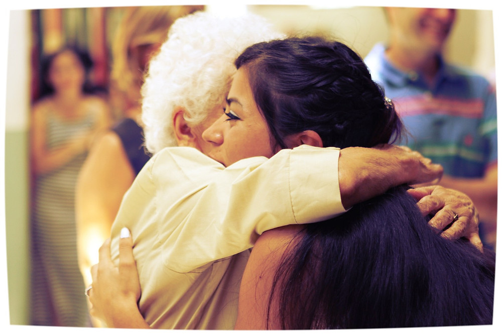 intergenerational hug