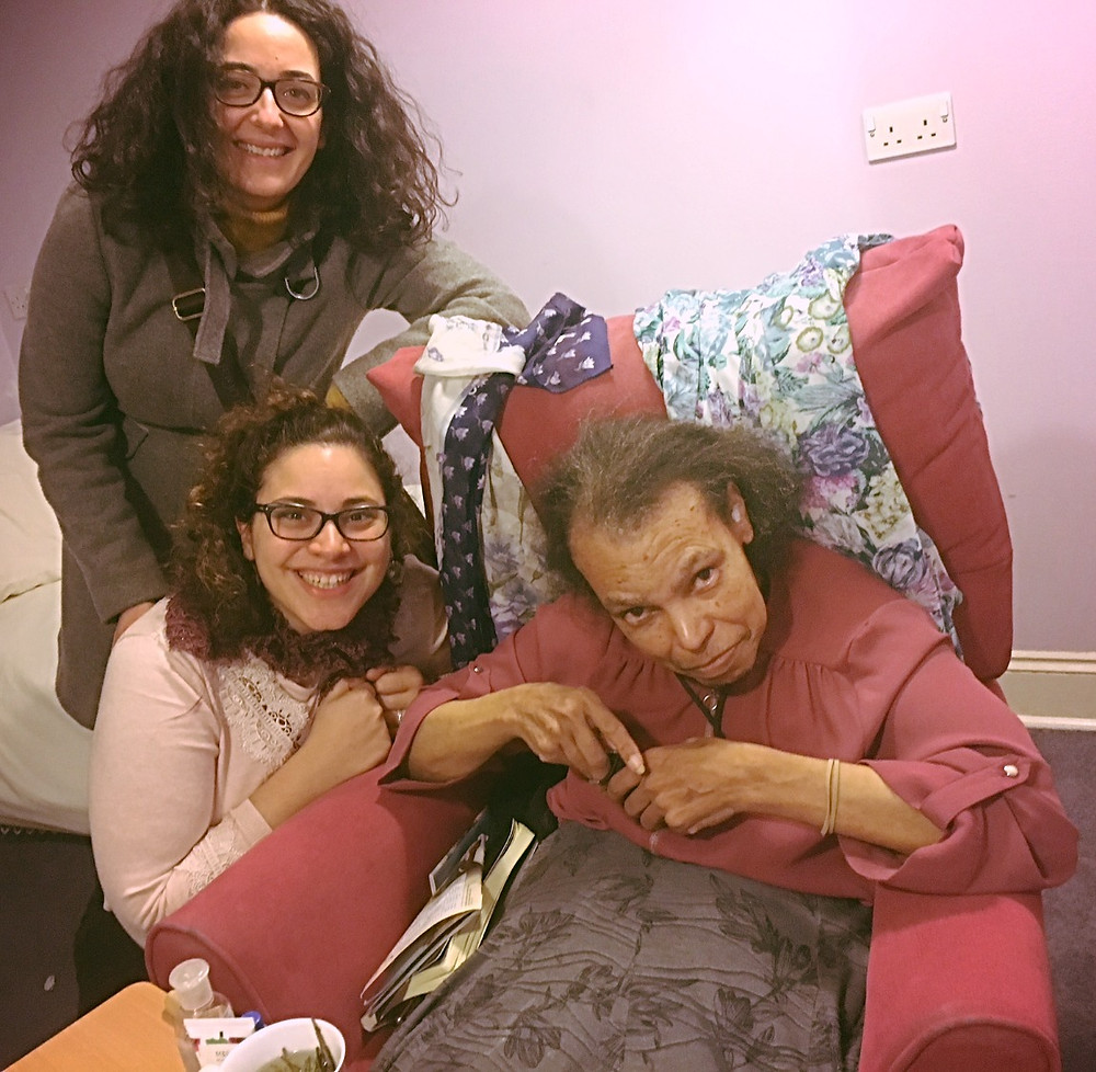 my dear friend Larnis, with Marilena and I