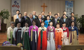 목양장로교회 창립 34주년 감사 및 임직예배 거행 -  14명의 신임 임직자 세우고  새로운 34년 기약