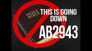 악법AB-2943캘리포니아 상원에서25-11로 통과 -   기독교인들의 언론의 자유에 대한 심각한 위협!