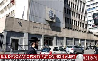 """""""예루살렘은 이스라엘의 수도"""" 백악관 발표 초읽기 중동지역 안보 위협 고조 속 백악관 신중한 행보"""