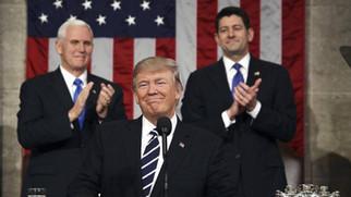 """""""우리는 하나님을 믿는다"""" -   트럼프 대통령 첫 번째 국정 연설"""