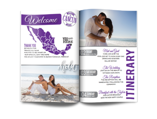 When Having A Destination Wedding One Of The Things You Must Consider Is Your Program Some People Use These Magazines As Bag Stuffers Save Dates