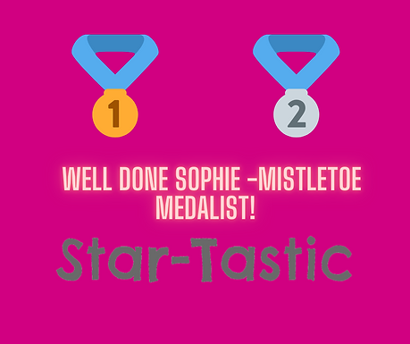 Well Done Sophie P!
