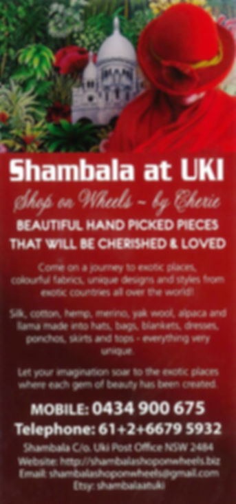 Shambala at Uki, imported exotic fashion