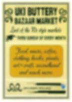 uki buttery bazaar. uki monthly market poster