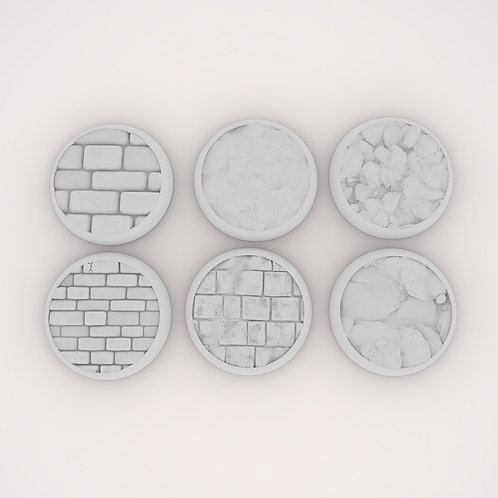 Brick Assortment 2 Bases, 6 Pack