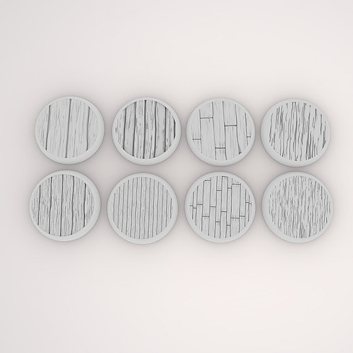 Wooden Assortment Bases, 8 Pack
